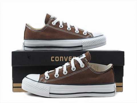 converse all star cuir marron